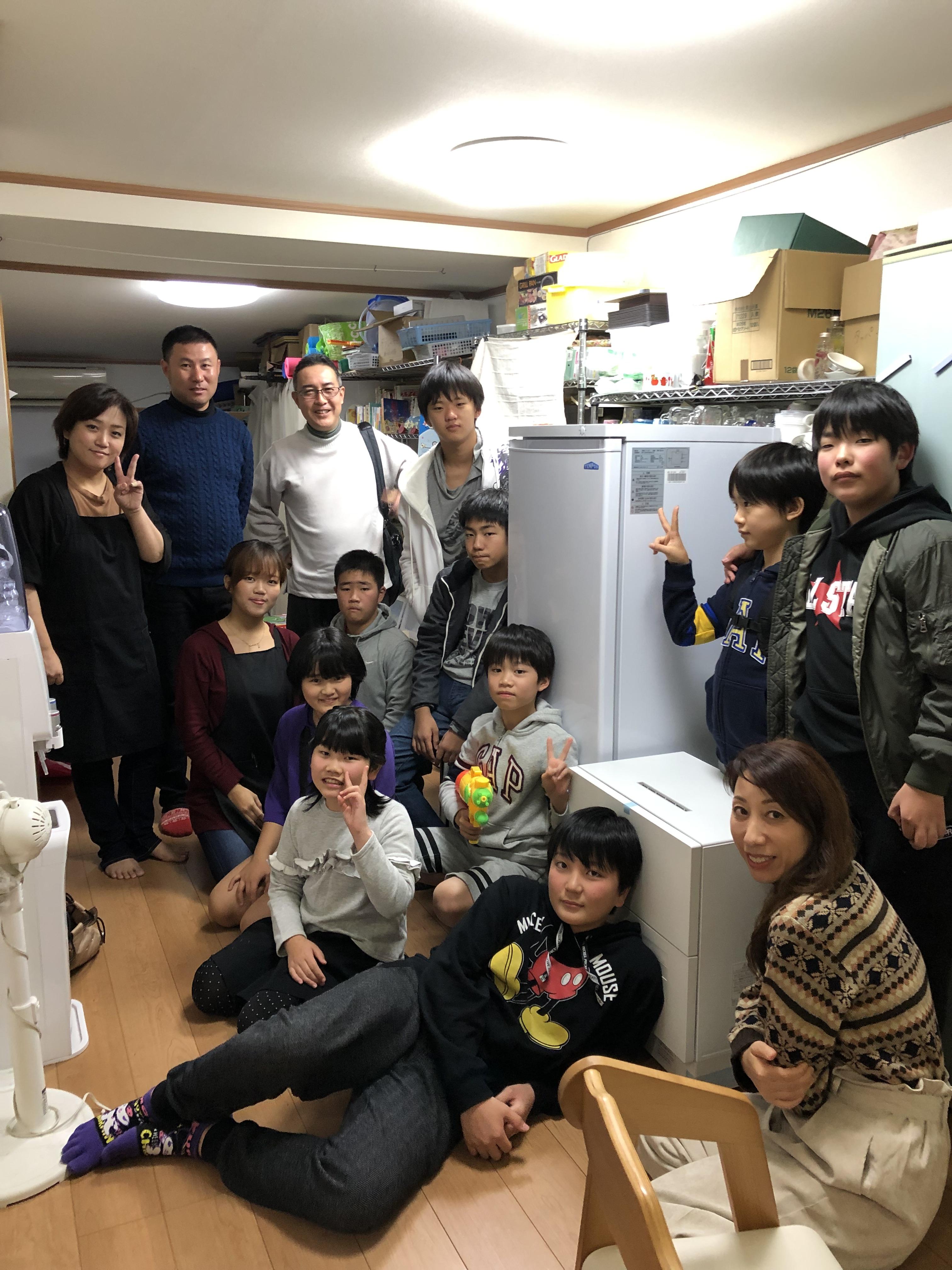 大和鋼業㈱様と子どもとの交流会+食洗機等ご寄贈いただきました
